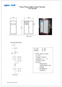 Three phase high current test system